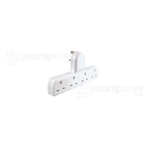 4 Way 13A Unswitched Adaptor - White