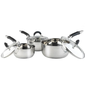Russell Hobbs 3-piece Stainless Steel Fusion Pan Set