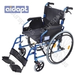 Aidapt Deluxe Lightweight Self Propelled Aluminium Wheelchair - Colour BLUE