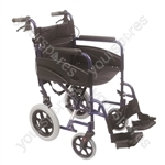 Compact Transport Aluminium Wheelchair - Colour Blue