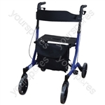 Aidapt Deluxe Ultra Lightweight Folding 4 Wheeled Rollator - Colour Blue