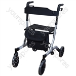 Aidapt Deluxe Ultra Lightweight Folding 4 Wheeled Rollator - Colour Grey