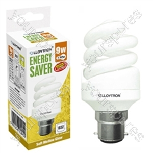 Mini Spiral CFL - 9w - B22 - 240V - 2700K (Warm White)