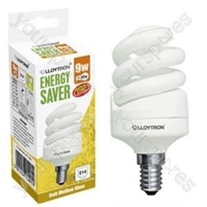 Mini Spiral CFL - 9w - E14 - 240V - 2700K (Warm White)