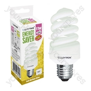Mini Spiral CFL - 11w - E27 - 240V - 2700K (Warm White)