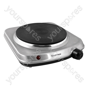KitchenPerfected 1500w Single Hob - Brushed Steel