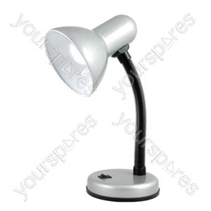 35w 'Classic' Flexi Desk Lamp - Silver