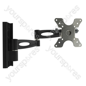 Double Arm TV Wall Mount - Black (13-30'')