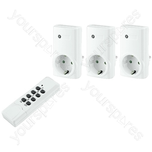 Wireless Switch Set - Remote-controlled Switch Socket Set, Pack Of 3
