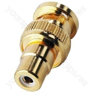 BNC/RCA Adaptor - Adapter Bnc Plug/rca Jack