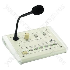 PA Desk Microphone - Pa Zone Paging Desktop Microphone