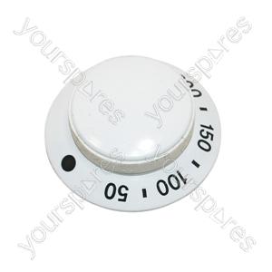 Whirlpool White Oven Temperature Control Knob