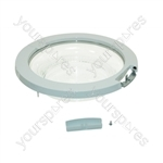 White Knight (Crosslee) Tumble Dryer Door Assembly (White)