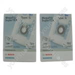 Bosch Type G Vacuum Cleaner Synthetic fleece Dust Bags x 8 + Filters