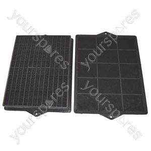 Elica Type 160 Carbon Charcoal Cooker Hood Filter Pack of 2