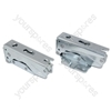 Fridge Freezer Integrated Door Hinges Set Hettich Left Right Pair