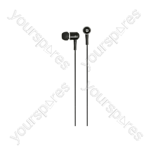 HQ2R Metal In-ear Earphones, Red/Black