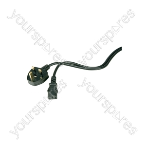 IEC Mains Lead, 5m, Black, Bulk Box