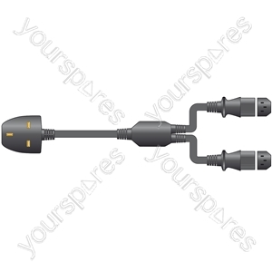 "IEC ""Y"" UK Mains Lead - 1.5M - LEAD, Black, bulk"