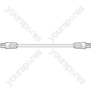 Coaxial plug - coaxial plug, 4.0m, white - Bopp Bag