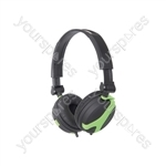 Stereo Headphones - QX40G Green