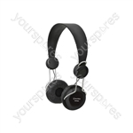 Classroom Headphones with In-line Microphone - Black - EHP800-BLK