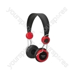 Classroom Headphones with In-line Microphone - Red - EHP800-RED