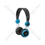Classroom Headphones with In-line Microphone - Blue - EHP800-BLU