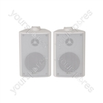 "BC Series Stereo Background Speakers - BC3-W 3"" speaker, White"