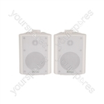 "BC Series Stereo Background Speakers - BC4-W 4"" speaker, White"