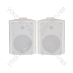 "BC Series Stereo Background Speakers - BC6-W 6.5"" speaker, White"