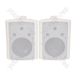 "BC Series Stereo Background Speakers - BC8-W 8"" speaker, White"