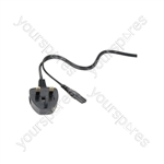 Figure 8 Mains Lead with  3-pin UK plug, 10.0m, black, bulk packed