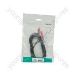 2 x RCA Plugs to 2 x 6.3mm Mono Plugs Leads - 5.0m