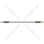 Precision 3.5mm Stereo Plug to 3.5mm Stereo Plug Leads - 0.5m