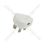 Genuine UK USB Power Adaptor for Use with Apple® Devices 1.0A - Mains MFi - A1399