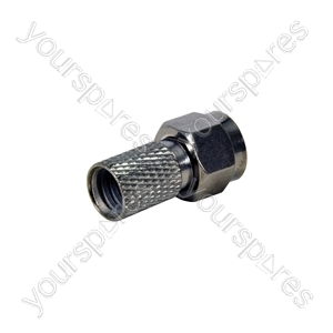 HQ F Connector - Plug Twist CAI Cable- bulk - C0003