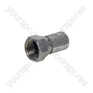 HQ F Connector - High quality plug RG6- bulk - C0001