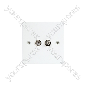 TV/Satellite Wallplate