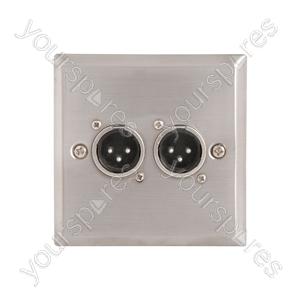 Wallplate 2 x 3pin XLR Plugs