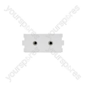 Modules Wallplate - 2 x 3.5mm stereo socket modules