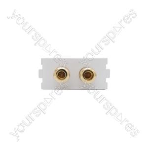 Wallplate Module - Speaker Terminals - Modules Audio