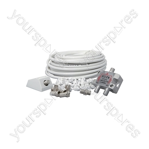 Satellite Coaxial Splitter Kit - 15.0m