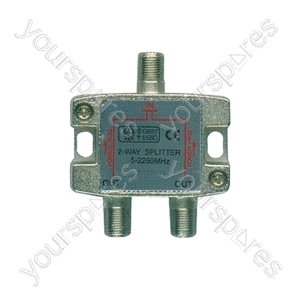 2-way satellite F splitter