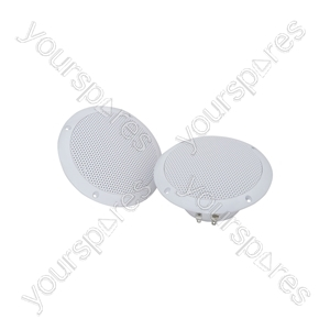 "OD6-W4 Water resistant speaker, 16.5cm (6.5""), 100W max, 4 ohms, White"