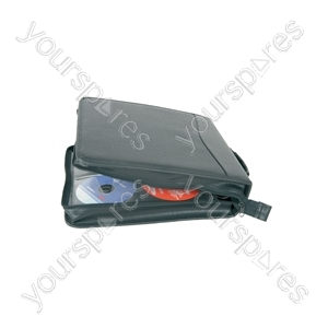 Carry Cases for CDs/DVDs - Case, 200 CDs, Leather like finish