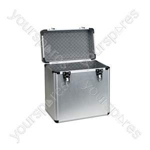 "Aluminium 12"" Vinyl Flight Case - case, deluxe, holds 50 x - LP:50"