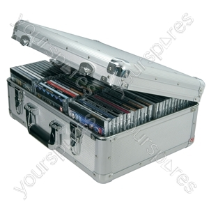 Aluminium CD Flight Cases - case, 80 CDs - CDA:80