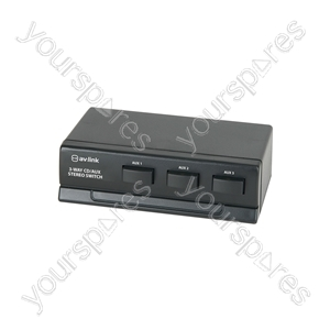 3 Way Cd/Aux Stereo Switch - switch, 3-way - AD-AUD31