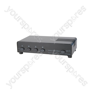 4 Way Loudspeaker Selector - Protected switcher - AD-SPK14